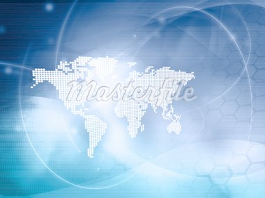world map technology-style Stock Photo - Royalty-Free, Artist: ilolab                        , Code: 400-04138133