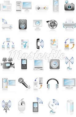 blue media icons Stock Photo - Royalty-Free, Artist: Ika747                        , Code: 400-04138523