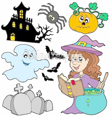 Various Halloween images 5 - vector illustration. Stock Photo - Royalty-Free, Artist: clairev                       , Code: 400-04138947