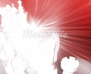 Chess strategy competion concept illustration, glowing energy style Stock Photo - Royalty-Free, Artist: kgtoh                         , Code: 400-04142359