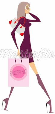 Girl walking Stock Photo - Royalty-Free, Artist: ZZVE, Code: 400-04153279