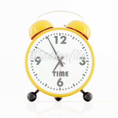 classic orange and black alarm clock isolated on white - rendering Stock Photo - Royalty-Free, Artist: archidea, Code: 400-04153453