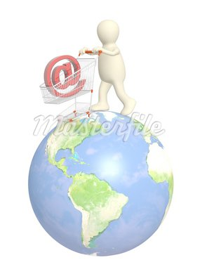 Conceptual image - virtual shopping Stock Photo - Royalty-Free, Artist: frenta, Code: 400-04160199