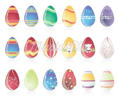 easter egg icons - vector icon set Stock Photo - Royalty-Free, Artist: stoyanh, Code: 400-04160783