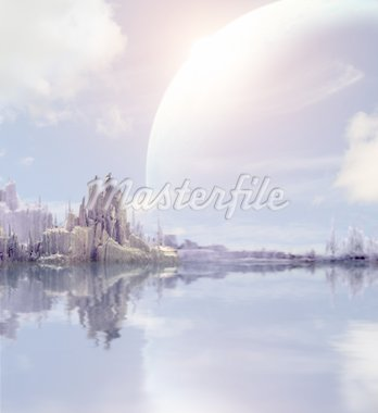 Collage - landscape in fantasy planet Stock Photo - Royalty-Free, Artist: frenta, Code: 400-04161789