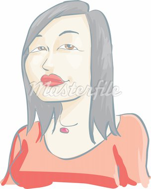 asian girl using a necklace Stock Photo - Royalty-Free, Artist: davisales, Code: 400-04167135