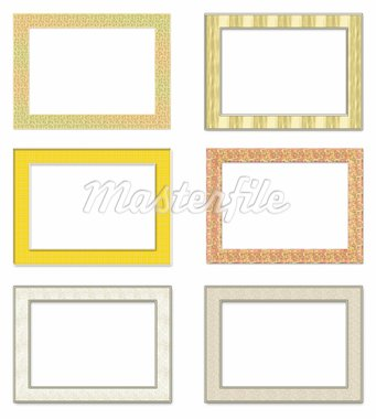 Collection vertical metal photo frameworks. Isolated on a white background Stock Photo - Royalty-Free, Artist: aelita, Code: 400-04173271
