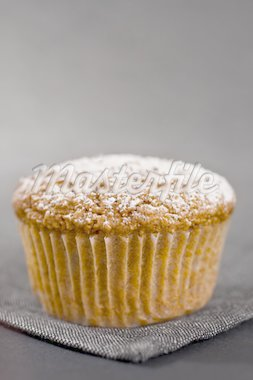 Closeup Of One Muffin On Grey Napkin Stock Photo - Royalty-Free, Artist: ninette_luz, Code: 400-04183498