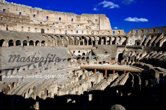 Ancient ruins of great roman amphitheater Colosseum, Rome, Italy Stock Photo - Royalty-Free, Artist: sailorr, Code: 400-04184907