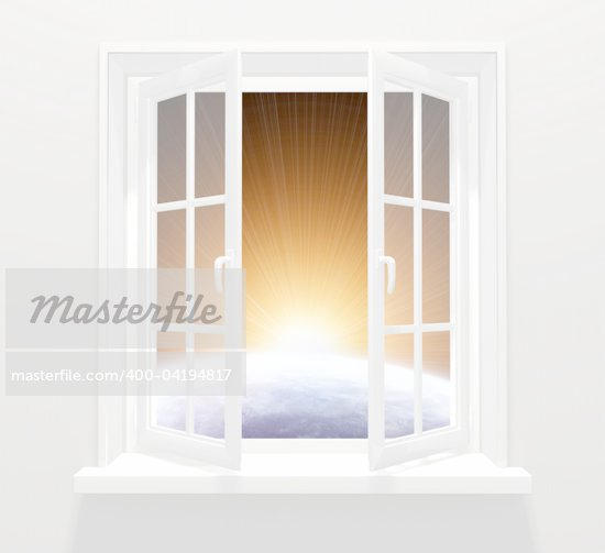 Collage - window in other galaxy Stock Photo - Royalty-Free, Artist: frenta, Code: 400-04194817