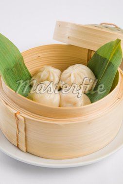 Dumplings in bamboo steamer Stock Photo - Royalty-Free, Artist: epstock, Code: 400-04204715