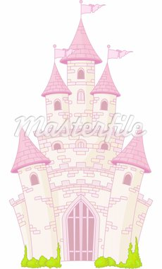  Illustration of a Magic Fairy Tale Princess Castle Stock Photo - Royalty-Free, Artist: Dazdraperma, Code: 400-04205375