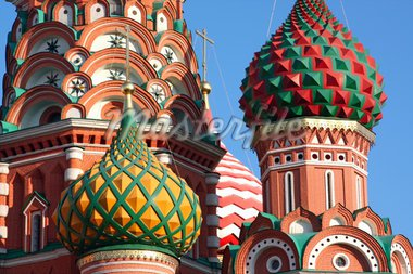 Cupola of St. Basil's Cathedral in Red Square, Moscow, Russia Stock Photo - Royalty-Free, Artist: dikti, Code: 400-04206703