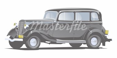Vector illustration of a retro car. (Simple gradients only - no gradient mesh.) Stock Photo - Royalty-Free, Artist: Suricoma, Code: 400-04207960