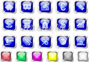 Finance and Banking icons Stock Photo - Royalty-Free, Artist: mybigbear, Code: 400-04219621