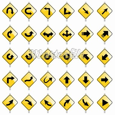 vector set of various direction signs Stock Photo - Royalty-Free, Artist: emirsimsek, Code: 400-04225453