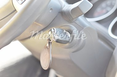 key in car lock Stock Photo - Royalty-Free, Artist: tetkoren, Code: 400-04226545