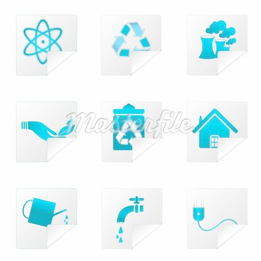 illustration of recycle icons on white background Stock Photo - Royalty-Free, Artist: get4net, Code: 400-04237990