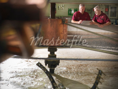 Workers checking whisky in distillery Stock Photo - Premium Royalty-Freenull, Code: 649-04248743