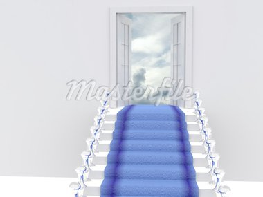 stair to sky. 3d Stock Photo - Royalty-Free, Artist: sad444                        , Code: 400-04260055