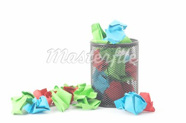 rubbish or trash in a can showing recycling concept Stock Photo - Royalty-Free, Artist: gunnar3000                    , Code: 400-04267119