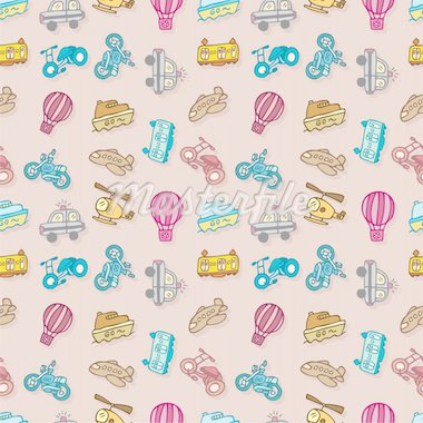seamless transport pattern,vector illustration Stock Photo - Royalty-Free, Artist: notkoo2008                    , Code: 400-04273381