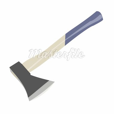 Vector illustration of axe is isolated on white background Stock Photo - Royalty-Free, Artist: smeagorl                      , Code: 400-04276844
