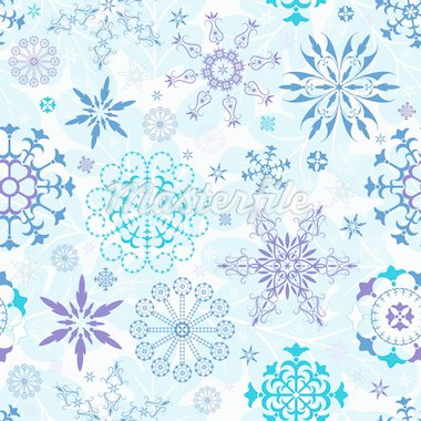 Seamless blue and violet and white christmas wallpaper (vector) Stock Photo - Royalty-Free, Artist: OlgaDrozd                     , Code: 400-04276871