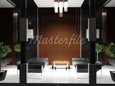 interior hall (3d rendering ) Stock Photo - Royalty-Free, Artist: dmitriy6                      , Code: 400-04278807