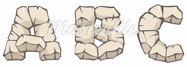 Series of Stone alphabet: letters ABC, hand drawing font, vector illustration Stock Photo - Royalty-Free, Artist: ensiferum                     , Code: 400-04281399