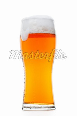 Glass of classic beer isolated over white Stock Photo - Royalty-Free, Artist: logoff                        , Code: 400-04289997