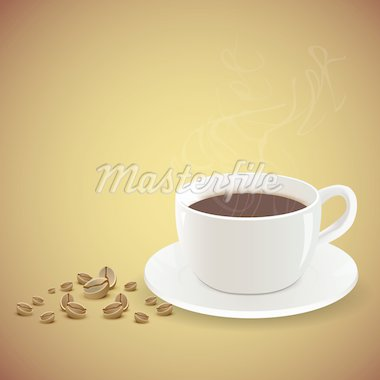 illustration of coffee on abstract background Stock Photo - Royalty-Free, Artist: get4net                       , Code: 400-04290161
