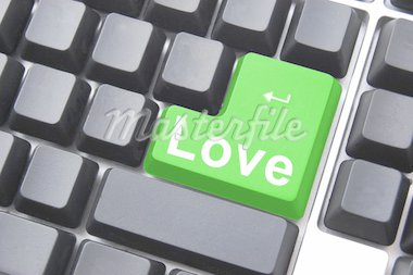love button showing concept for online dating Stock Photo - Royalty-Free, Artist: gunnar3000                    , Code: 400-04290610