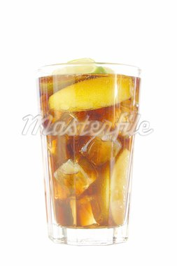 cool cole drink isolated on white background Stock Photo - Royalty-Free, Artist: gunnar3000                    , Code: 400-04290627