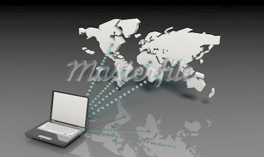Internet Connection Data on a Secure Network Stock Photo - Royalty-Free, Artist: kentoh                        , Code: 400-04290991