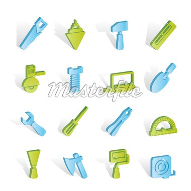 Building and Construction Tools icons - Vector Icon Set Stock Photo - Royalty-Free, Artist: stoyanh                       , Code: 400-04291303
