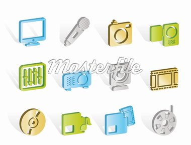Media equipment icons - vector icon set Stock Photo - Royalty-Free, Artist: stoyanh                       , Code: 400-04291815
