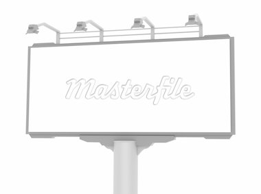 Empty advertisement hoarding. White background Stock Photo - Royalty-Free, Artist: alexmit                       , Code: 400-04293373
