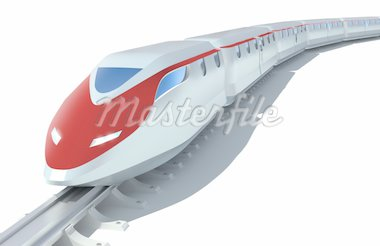 High-speed passenger train. White background Stock Photo - Royalty-Free, Artist: alexmit                       , Code: 400-04293375