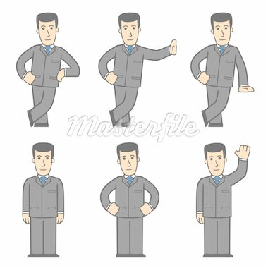 set of businessman in different poses Stock Photo - Royalty-Free, Artist: artenot                       , Code: 400-04295501