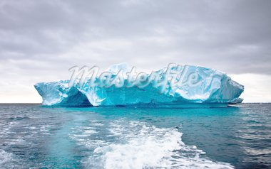 Huge iceberg in Antarctica, beautiful winter background Stock Photo - Royalty-Free, Artist: goinyk                        , Code: 400-04299255