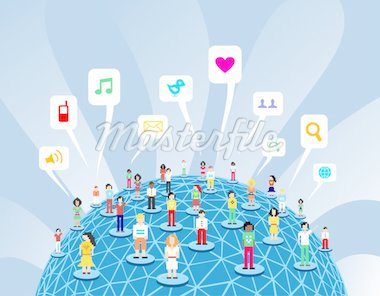 Social media network connection concept Stock Photo - Royalty-Free, Artist: cienpiesnf                    , Code: 400-04301127
