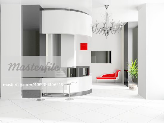 Hall of hotel in agoys 3d image Stock Photo - Crestock Royalty-Free, Artist: kash76                        , Code: 400-04306219