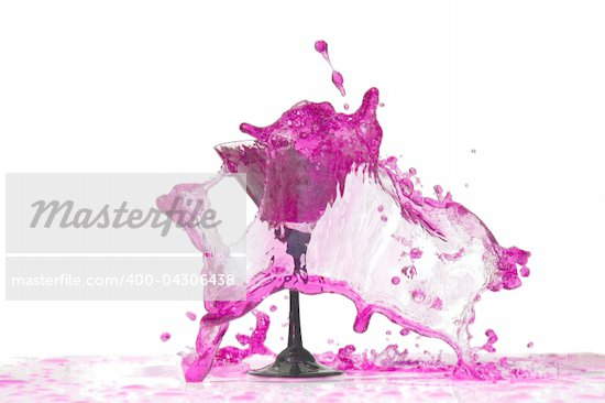 Vine splashes in glass isolated on white Stock Photo - Royalty-Free, Artist: rjycnfynby                    , Code: 400-04306438