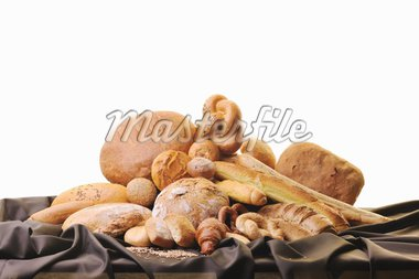 fresh healthy natural  bread food group in studio on table Stock Photo - Royalty-Free, Artist: dotshock                      , Code: 400-04308369