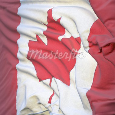 Flag of Canada, fluttering in the breeze, backlit rising sun, fluttered in the wind. Sewn from pieces of cloth, a very realistic detailed state flag with the texture of fabric fluttering in the breeze, backlit by the rising sun light Stock Photo - Royalty-Free, Artist: Antartis                      , Code: 400-04310073
