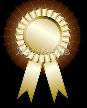 Vector illustration of a shiny award ribbon Stock Photo - Royalty-Free, Artist: ThomasAmby                    , Code: 400-04310673