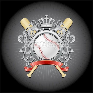 Baseball coat of arms. Vector illustration. Stock Photo - Royalty-Free, Artist: CelloFun                      , Code: 400-04314024