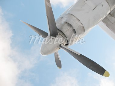 Propeller of a little airplane. Stock Photo - Royalty-Free, Artist: Spade                         , Code: 400-04317984