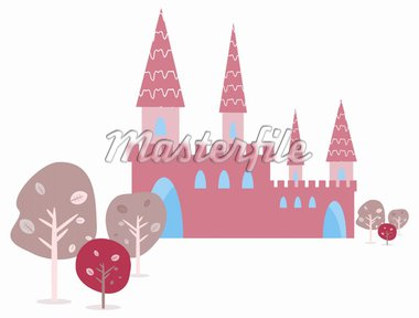 Invitation card with Magic Fairy Tale Princess Castle Stock Photo - Royalty-Free, Artist: icons                         , Code: 400-04320330